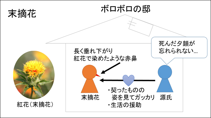 源氏物語・末摘花あらすじ図解